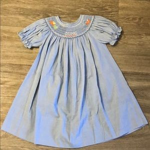 Toddler birthday smocked dress